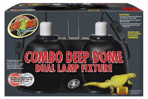Combo Deep Dome Lamp Fixture by ZooMed
